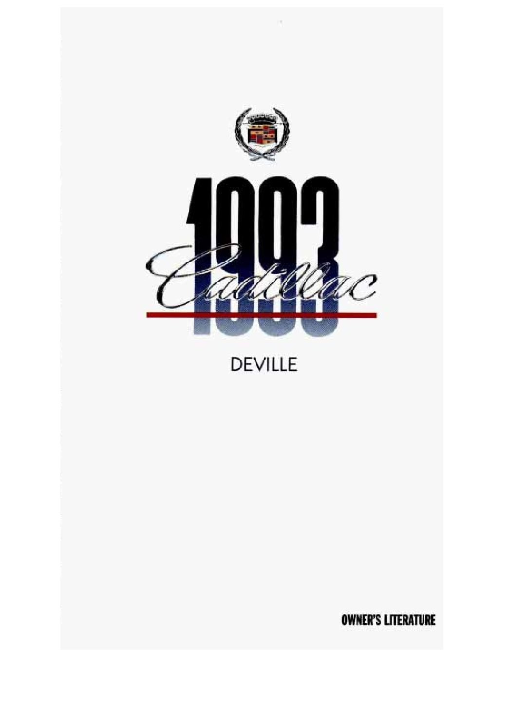 1993 cadillac deville owners manual