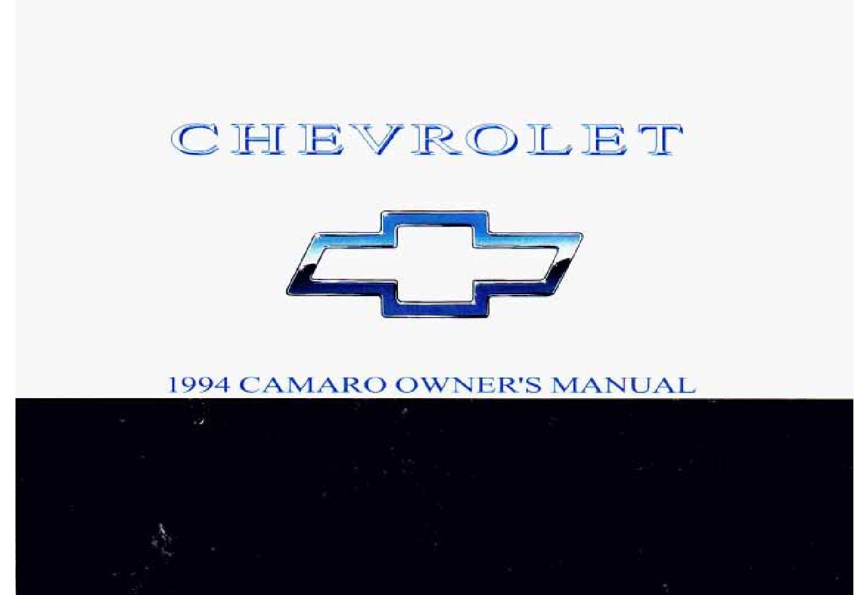1994 chevrolet camaro owners manual just give me the damn manual rh justgivemethedamnmanual com camaro owners manual pdf camaro owners manual 2017