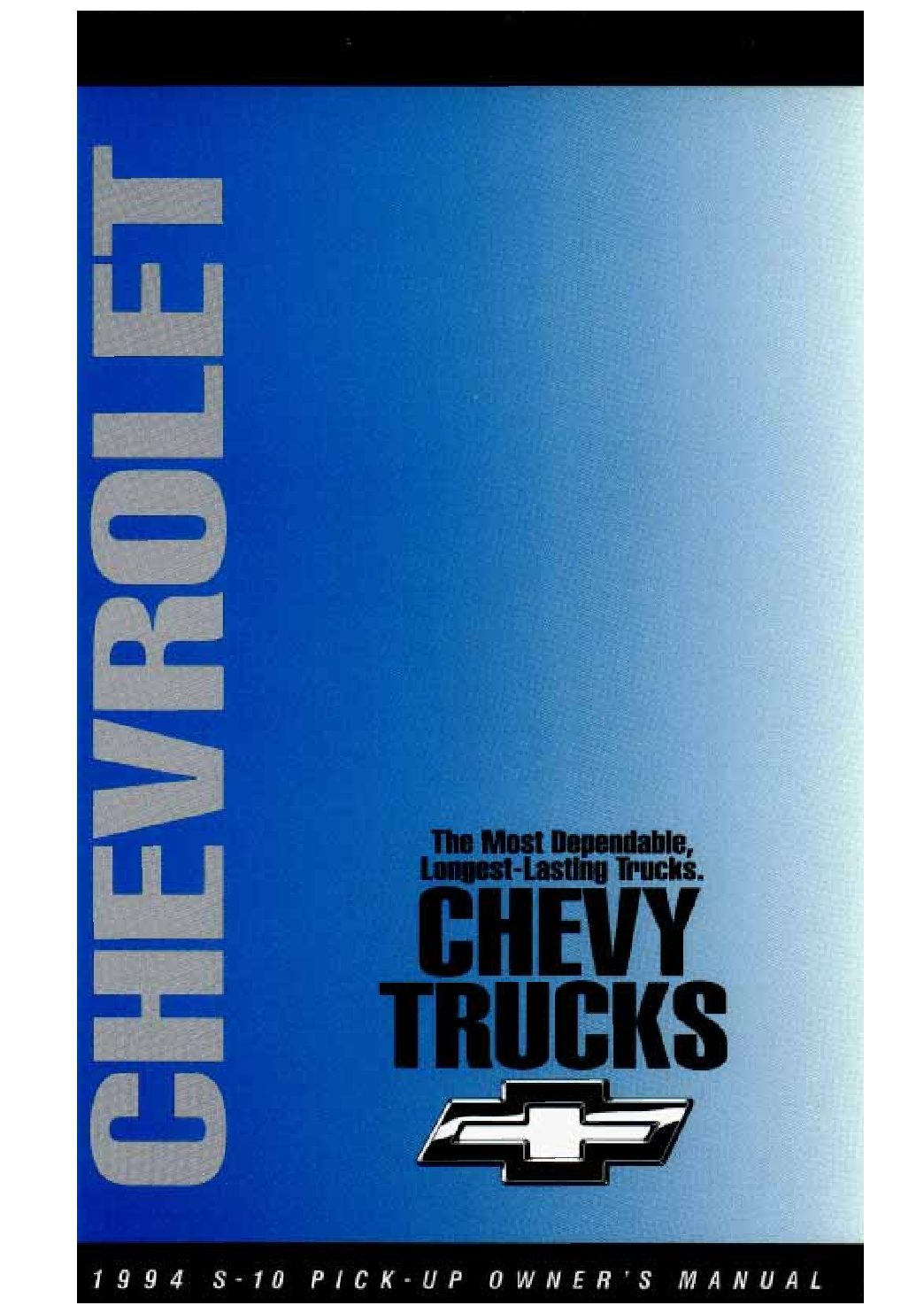 1994 chevrolet s10 owners manual just give me the damn manual rh justgivemethedamnmanual com 2003 Chevrolet S10 Chevy S10 Manual Inside