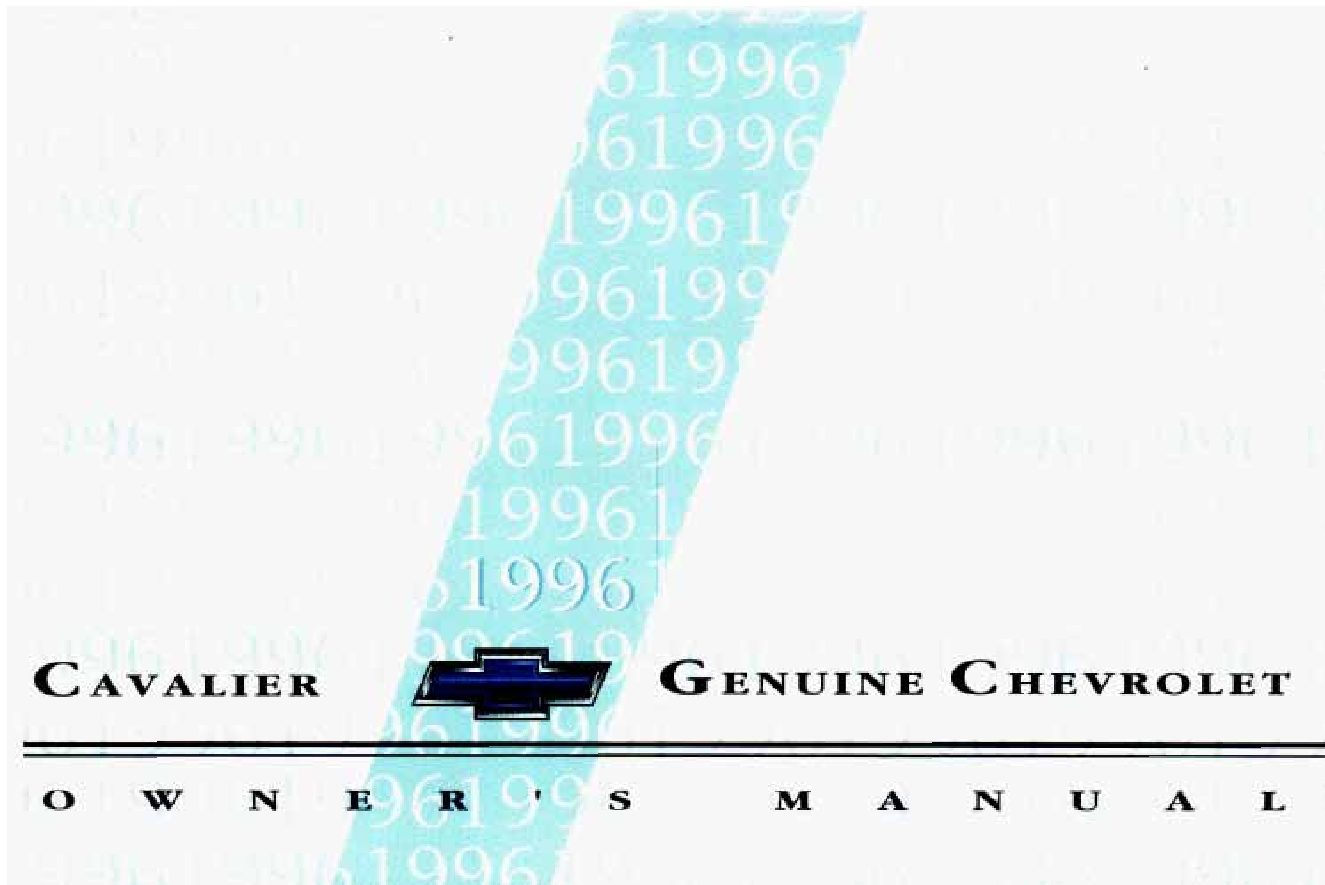 1996 Chevrolet Cavalier Owners Manual - Enthusiast Wiring Diagrams •