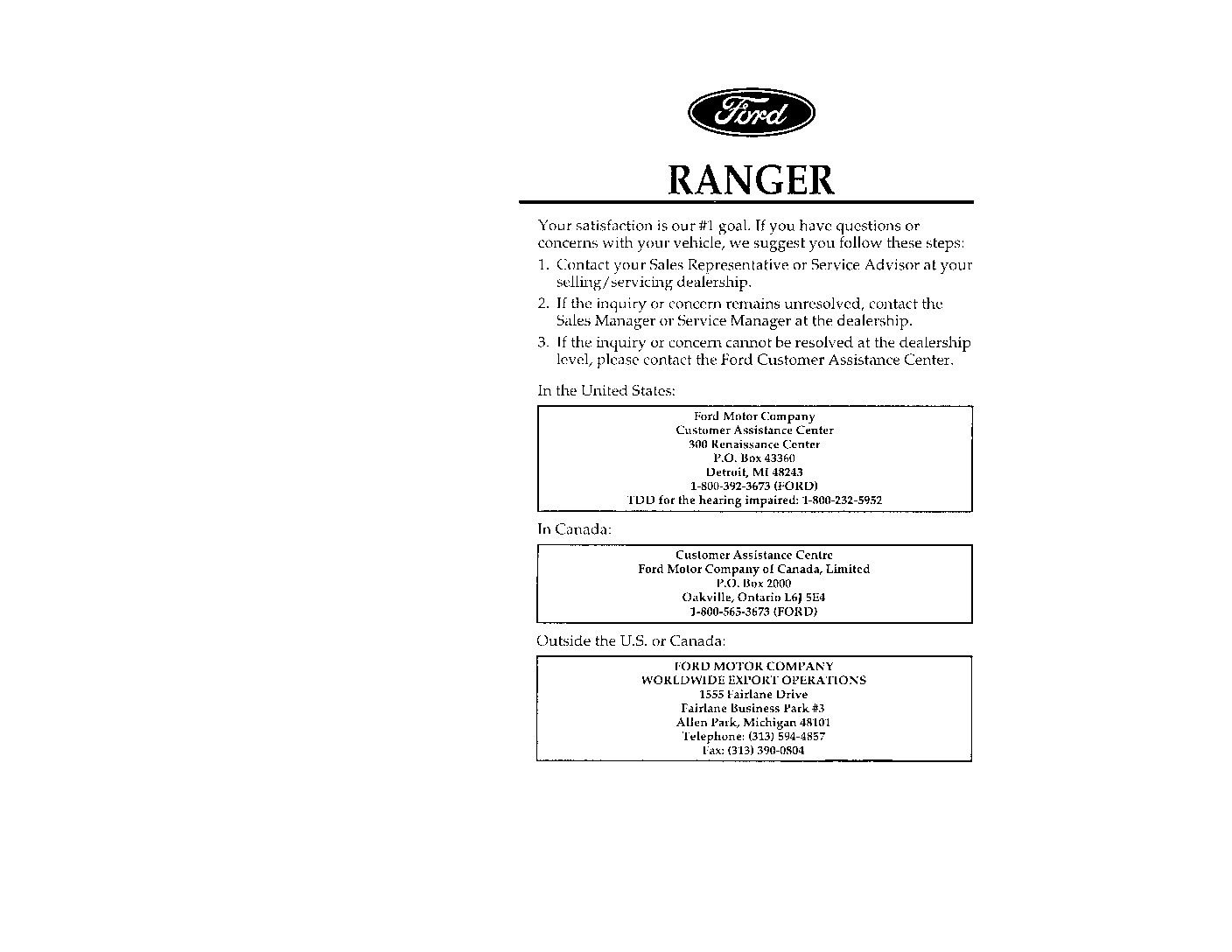 ford ranger owners manual  give   damn manual