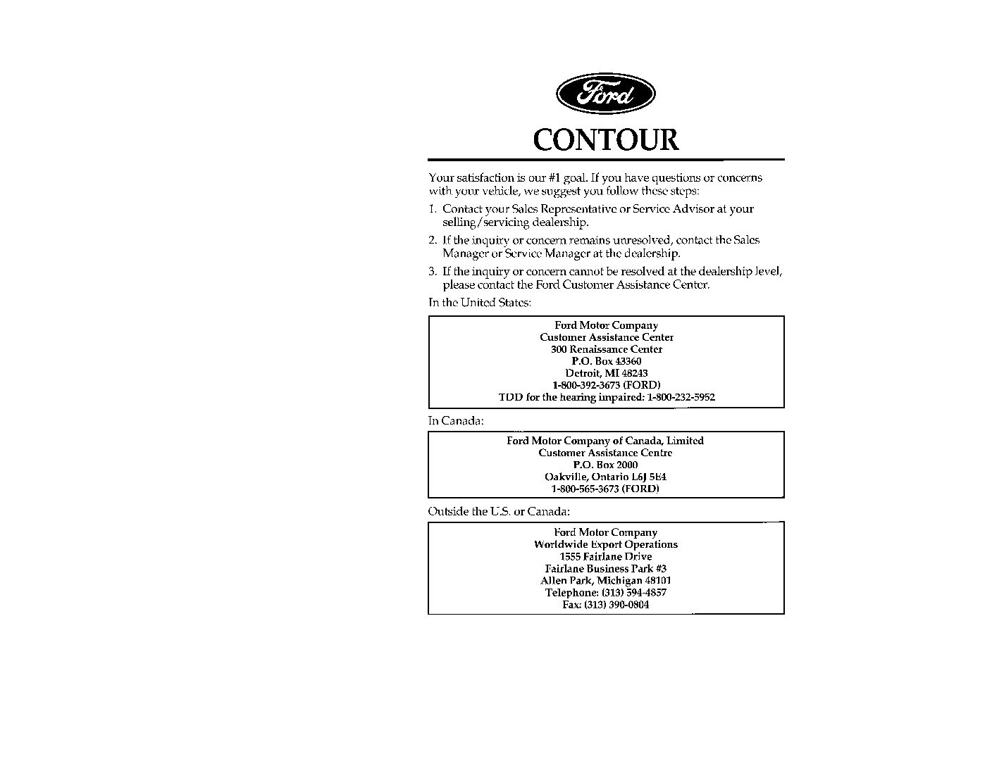 1997 Ford Contour Manual 98 Gl Fuse Box Diagram Owners Just Give Me The Damn Rh Justgivemethedamnmanual Com 1995