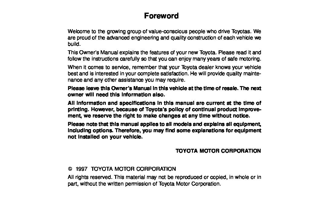1997 toyota avalon owners manual just give me the damn manual rh justgivemethedamnmanual com toyota avalon owners manual 2007 toyota avalon owners manual