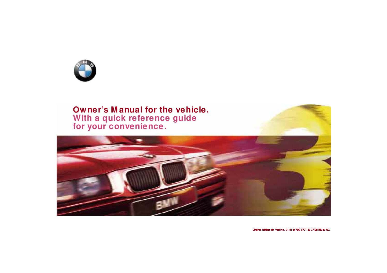 1998 bmw 3 series e36 owners manual just give me the damn manual rh justgivemethedamnmanual com 1997 BMW 323I 1995 BMW 323I