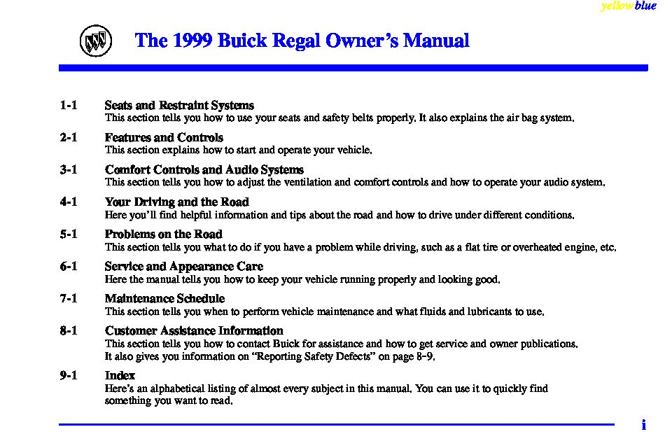 1999 buick regal owners manual just give me the damn manual rh justgivemethedamnmanual com 1998 Buick Regal 2000 Buick Regal