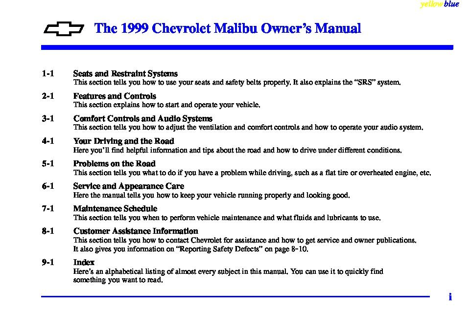 1999 chevrolet malibu owners manual just give me the damn manual rh justgivemethedamnmanual com 1999 chevrolet malibu repair manual 2000 Chevrolet Malibu
