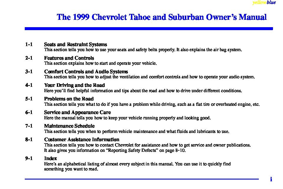 1999 chevrolet suburban owners manual just give me the damn manual rh justgivemethedamnmanual com Suburban Car Race 2011 chevrolet suburban ltz owner's manual