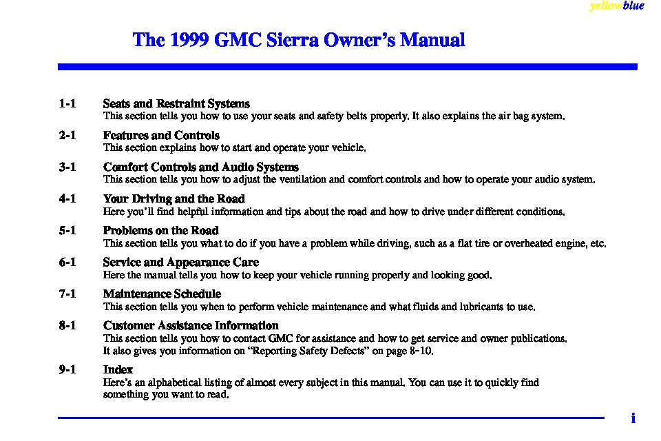 1999 gmc sierra owners manual just give me the damn manual rh justgivemethedamnmanual com 2000 GMC Sierra 1995 GMC Sierra