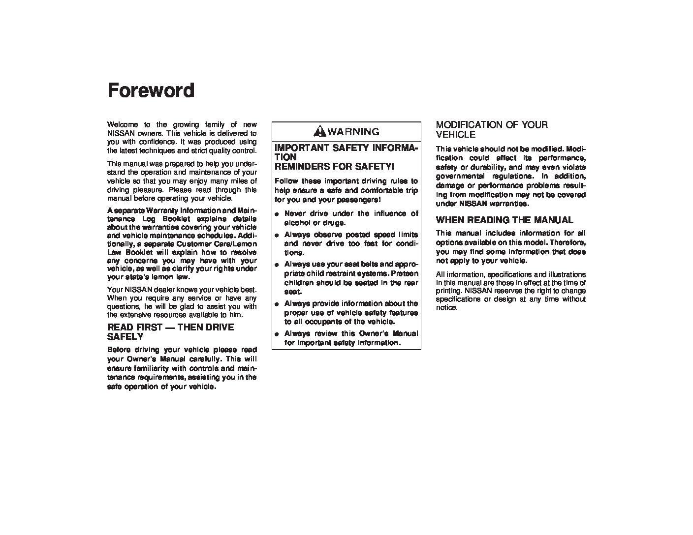 1999 nissan maxima owners manual just give me the damn manual rh justgivemethedamnmanual com