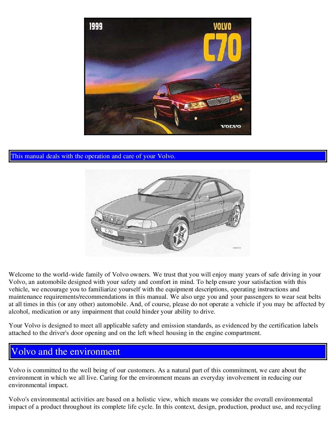 1999 volvo c70 owners manual just give me the damn manual rh justgivemethedamnmanual com 2004 volvo c70 owners manual volvo c70 workshop manual