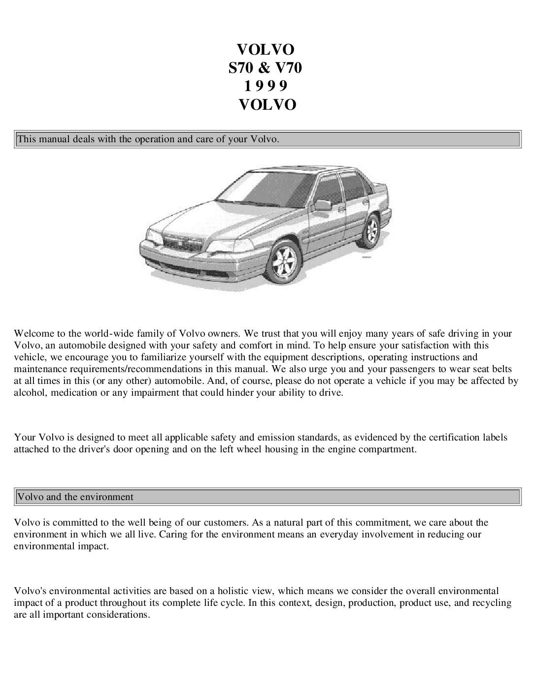 1999 volvo s70 v70 owners manual just give me the damn manual rh justgivemethedamnmanual com 1963 Ford Falcon iPhone Owners Manual