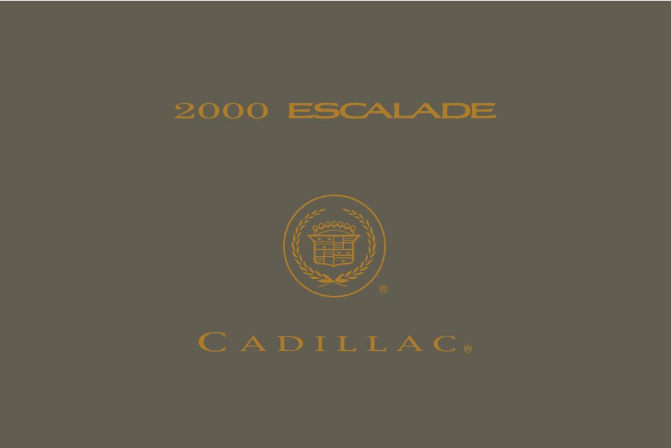 2000 cadillac escalade owners manual just give me the damn manual rh justgivemethedamnmanual com 2001 Escalade 2000 cadillac escalade service manual