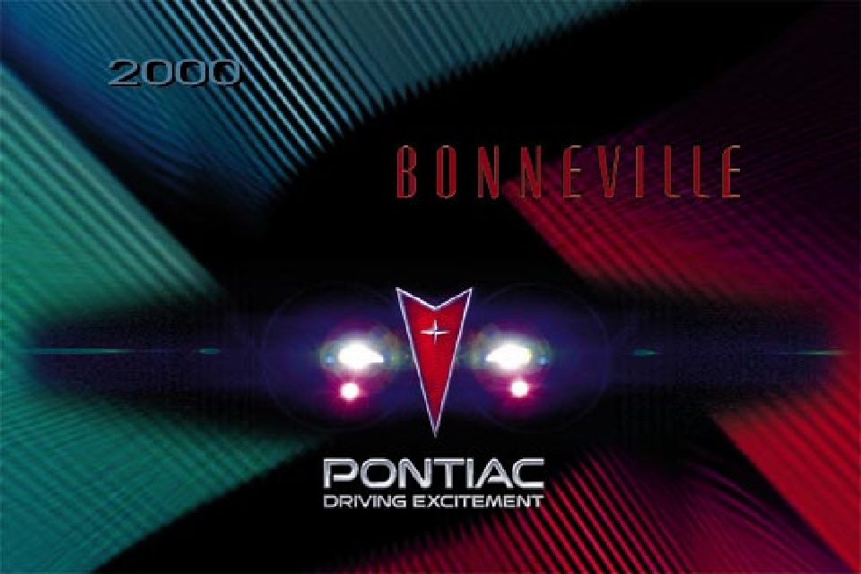 2000 pontiac bonneville owners manual | just give me the damn manual.