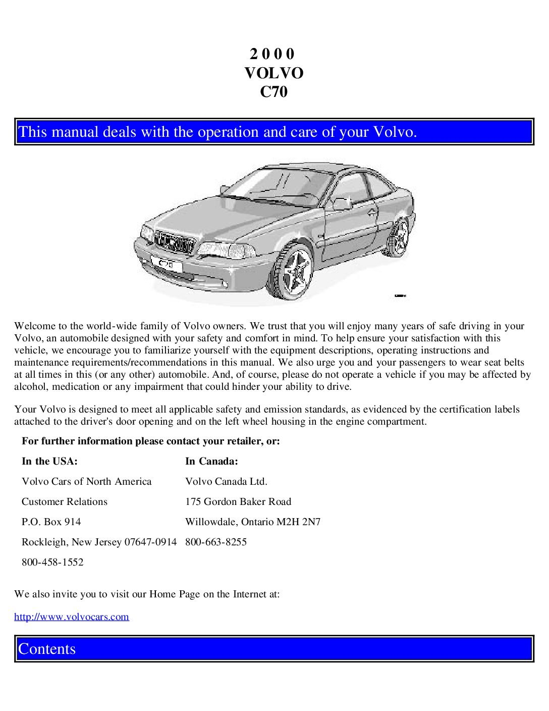 2000 volvo c70 owners manual just give me the damn manual 2000 volvo c70 owners manual solutioingenieria Images