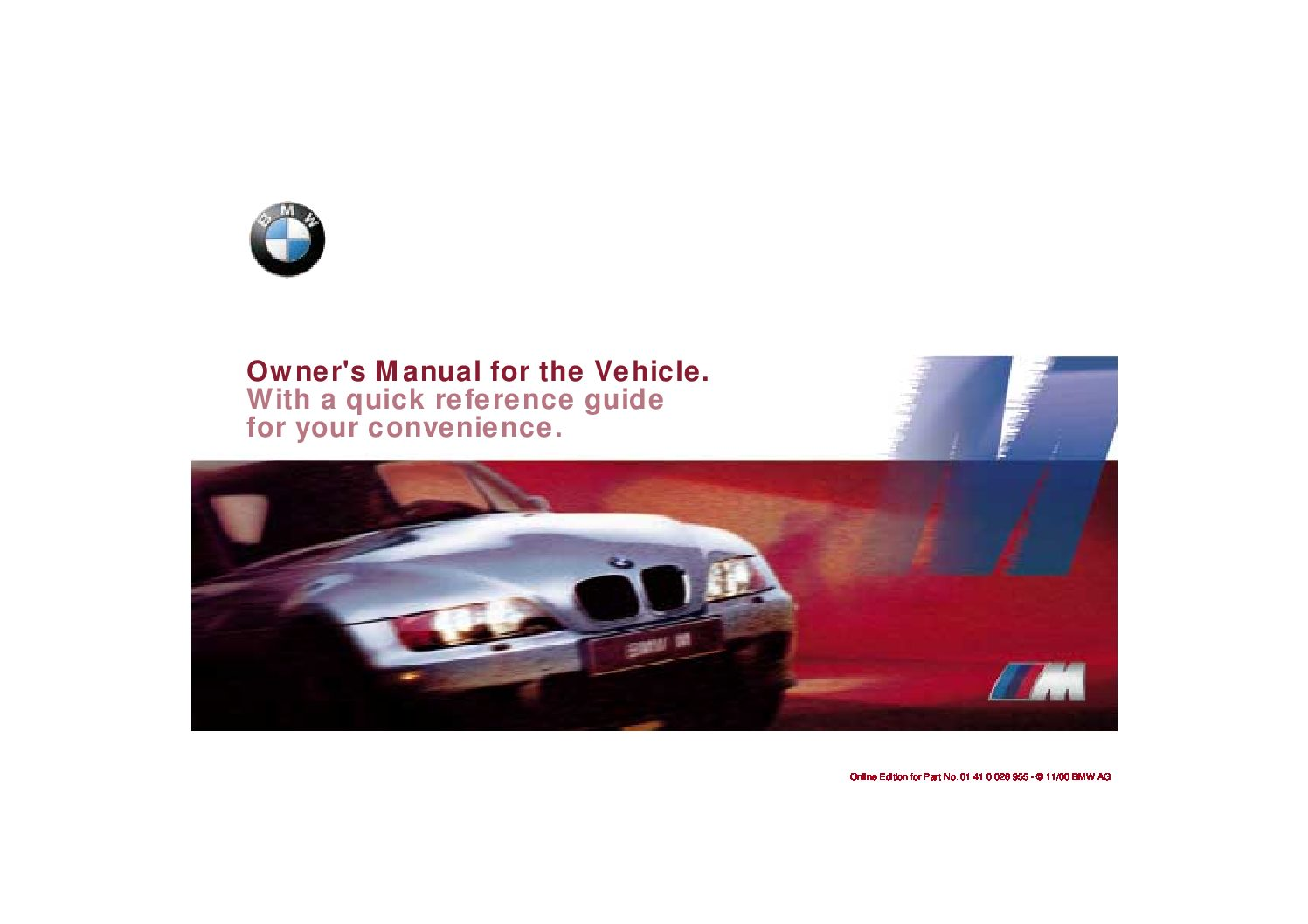 2001 bmw m roadster coupe owners manual just give me the damn manual rh justgivemethedamnmanual com M Coupe BMW Z3 M Roadster