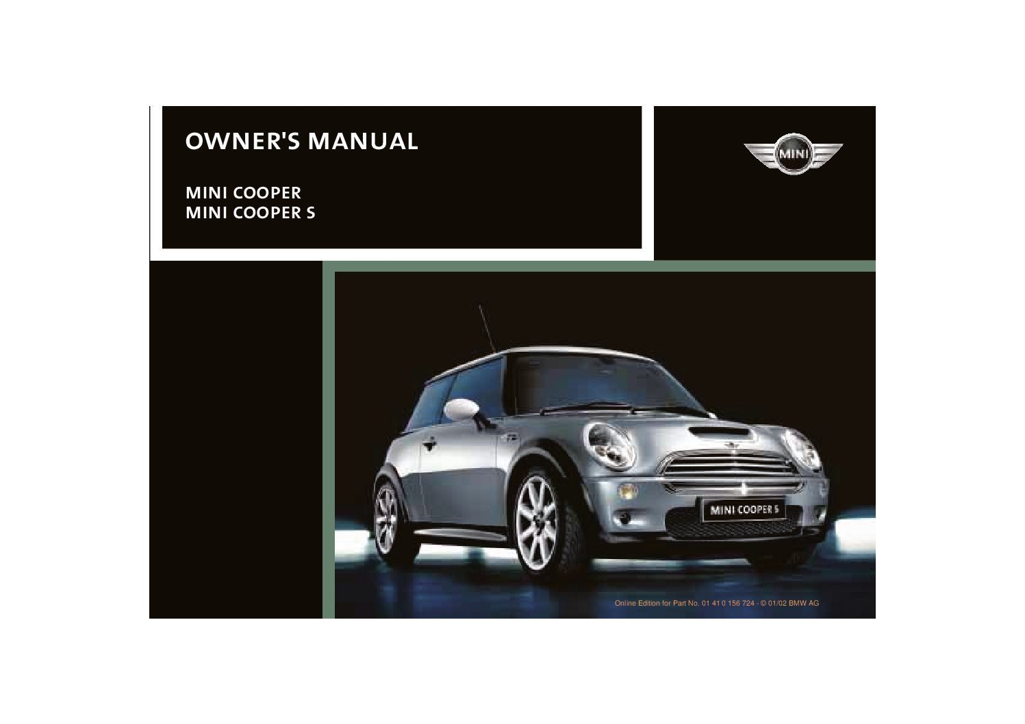2002 mini cooper owners manual just give me the damn manual rh justgivemethedamnmanual com 2008 Mini Cooper Service Manual Mini Cooper Replacement Parts