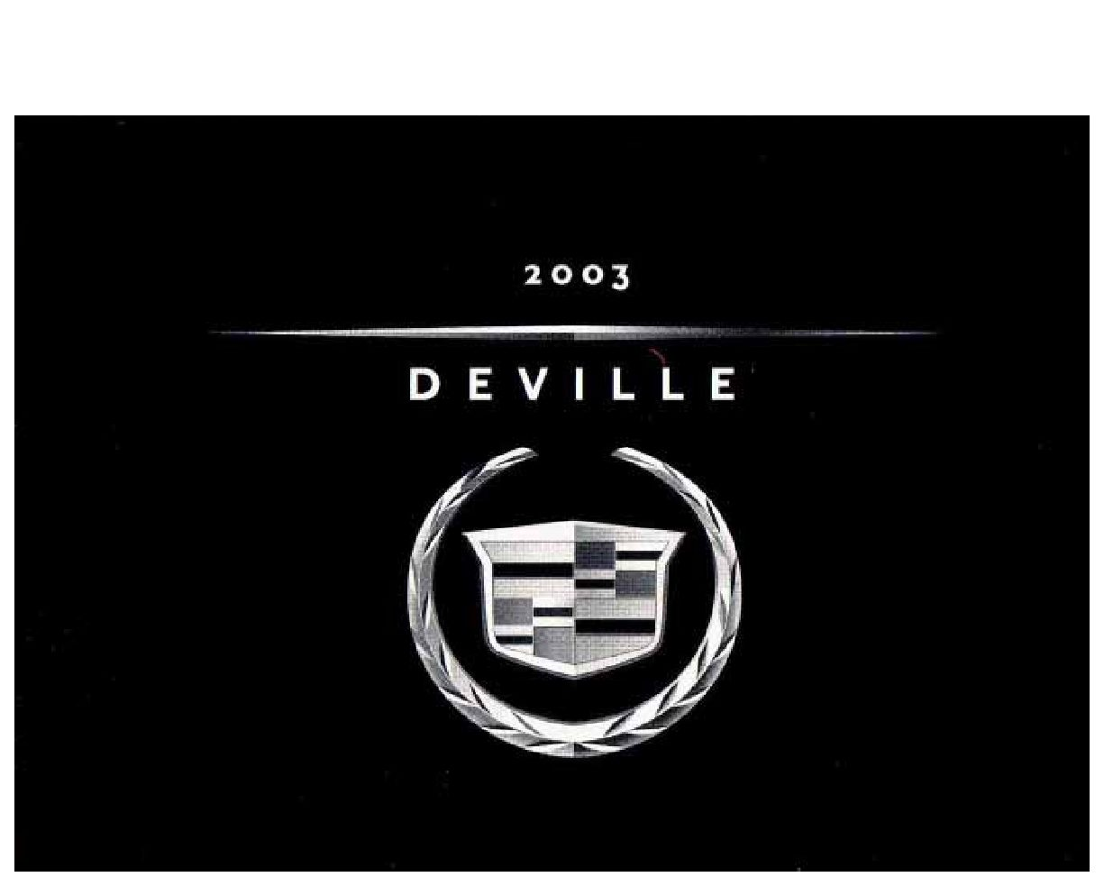 2003 cadillac deville owners manual just give me the damn manual rh justgivemethedamnmanual com 2000 cadillac deville owners manual on ebay 2003 cadillac deville owners manual download