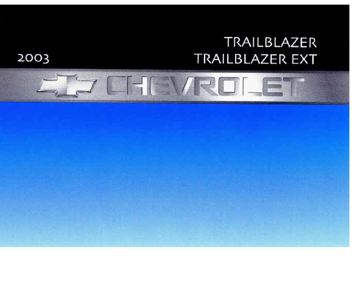 2003 Chevrolet Trailblazer Owners Manual Just Give Me border=