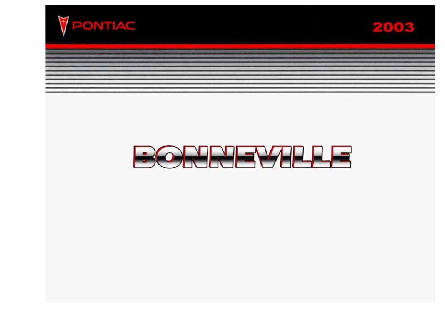 2003 pontiac bonneville owners manual just give me the damn manual rh justgivemethedamnmanual com 2001 Pontiac Bonneville 2003 Pontiac Bonneville SLE