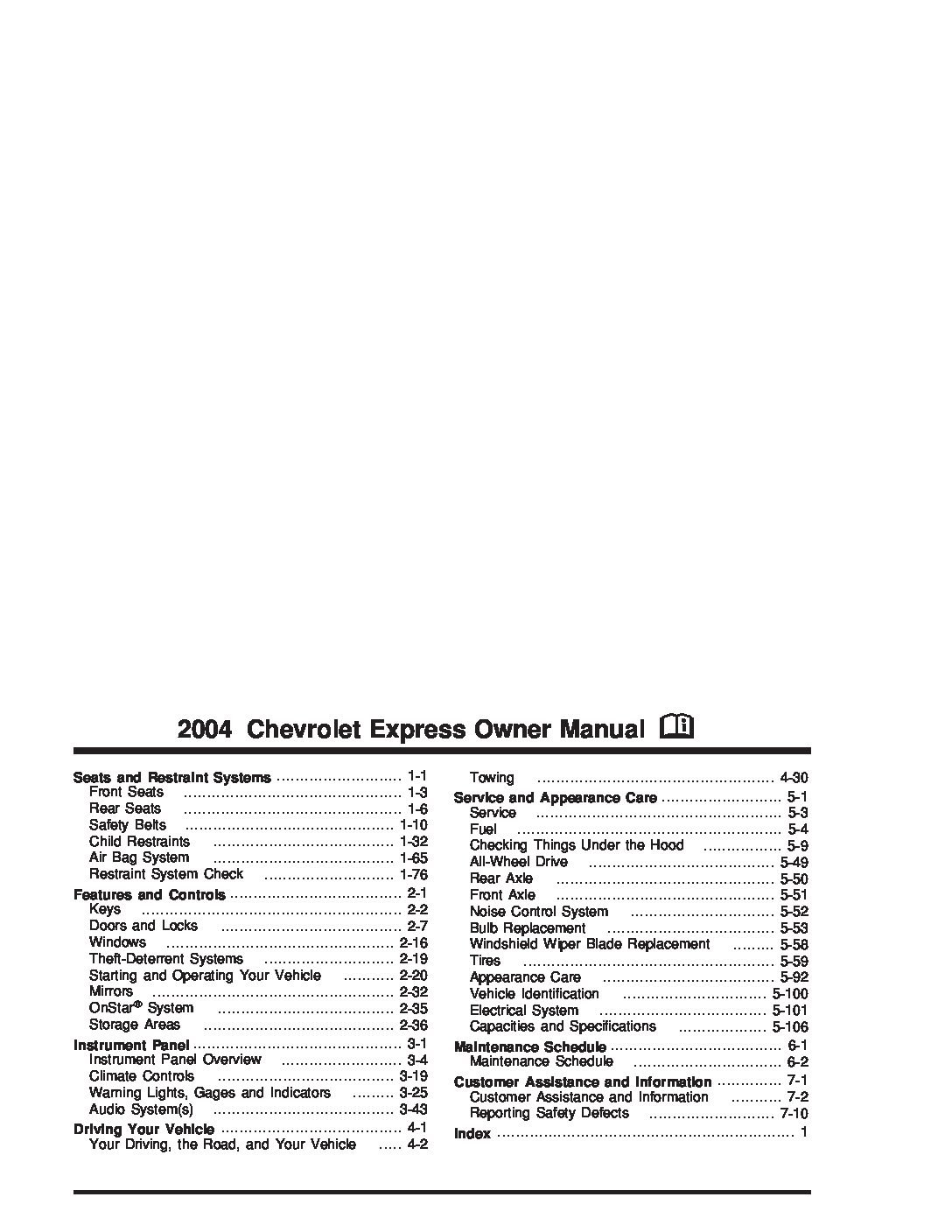 2004 chevrolet express owners manual just give me the damn manual rh justgivemethedamnmanual com 2004 chevrolet express 2500 owners manual 2014 chevrolet express owner's manual pdf