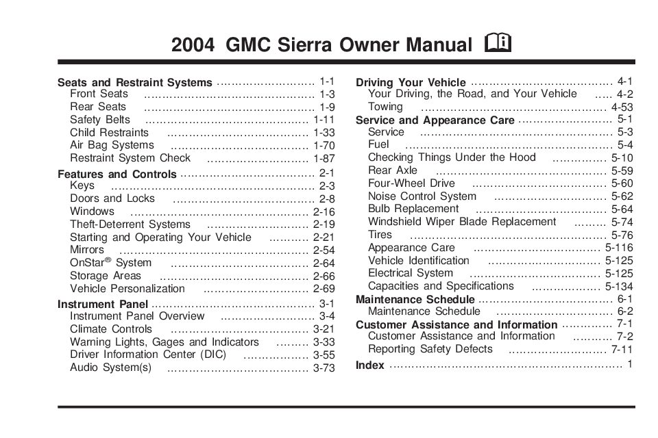 2004 gmc sierra owners manual just give me the damn manual rh justgivemethedamnmanual com 2004 gmc sierra owners manual pdf owners manual 2004 gmc sierra 1500