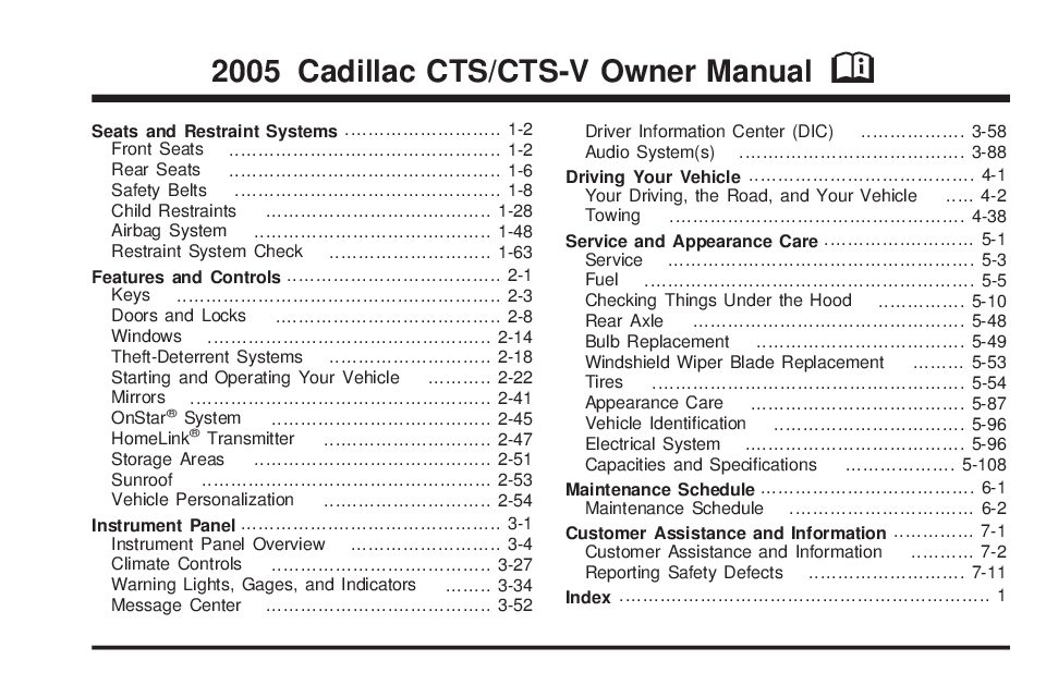 2005 cadillac cts owners manual just give me the damn manual rh justgivemethedamnmanual com 2005 cadillac cts service manual pdf 2005 cadillac cts service manual