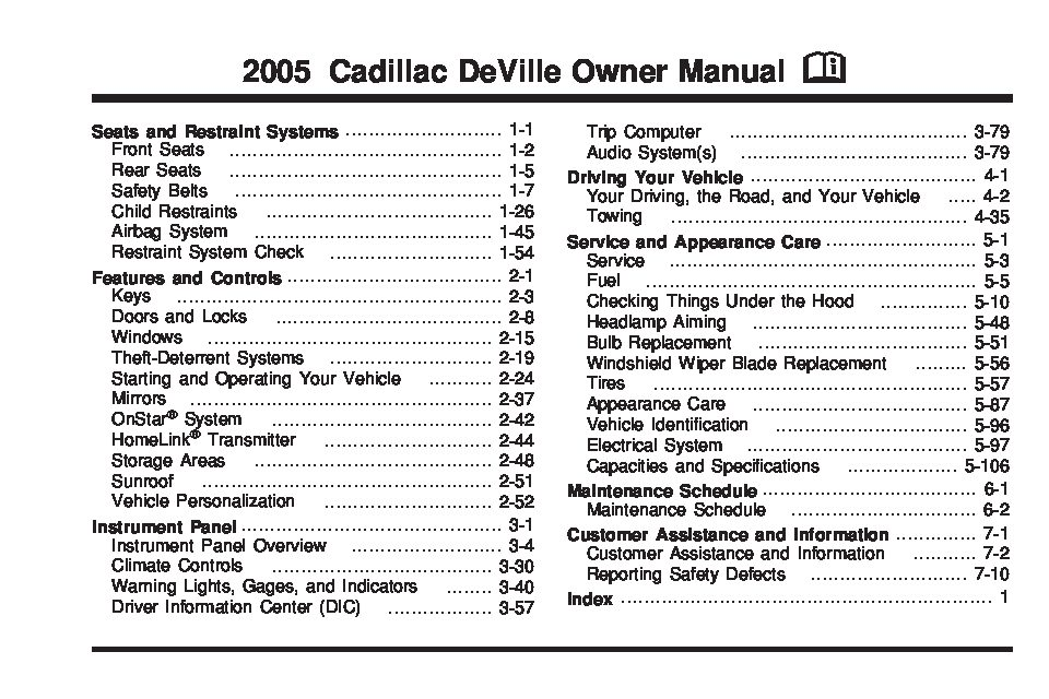2005 cadillac deville owners manual just give me the damn manual rh justgivemethedamnmanual com 2004 cadillac deville owners manual pdf 2004 cadillac deville owners manual