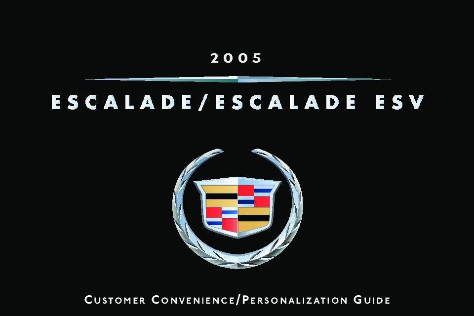 2005 cadillac escalade owners manual just give me the damn manual rh justgivemethedamnmanual com 2004 cadillac escalade manual 2005 cadillac escalade repair manual