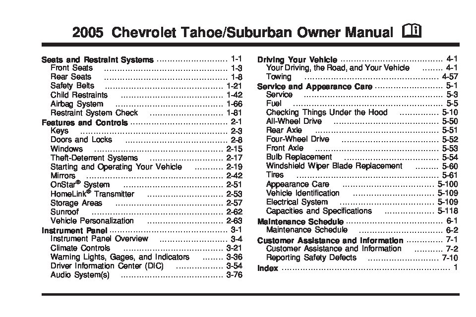 2005 chevrolet suburban owners manual just give me the damn manual rh justgivemethedamnmanual com 2007 Suburban 2005 Chevy Suburban Z71