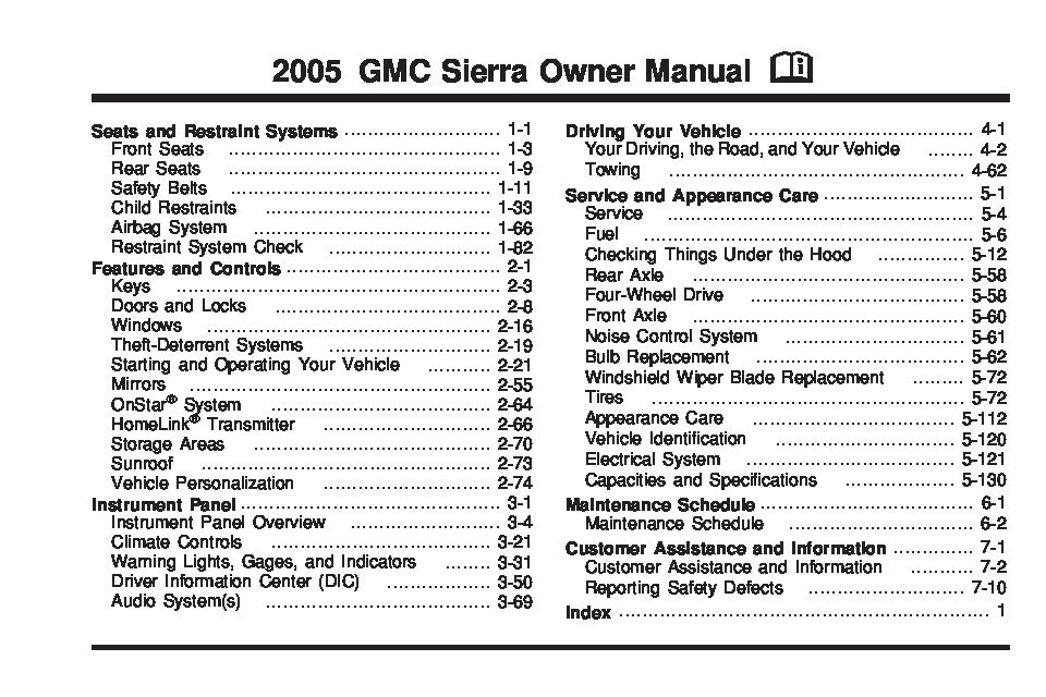 2005 gmc sierra owners manual just give me the damn manual rh justgivemethedamnmanual com 2004 gmc sierra owners manual 2005 gmc sierra diesel owners manual