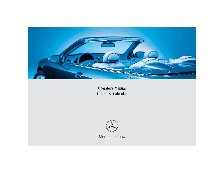 2005 mercedes-benz clk-class cabriolet Owner's Manual
