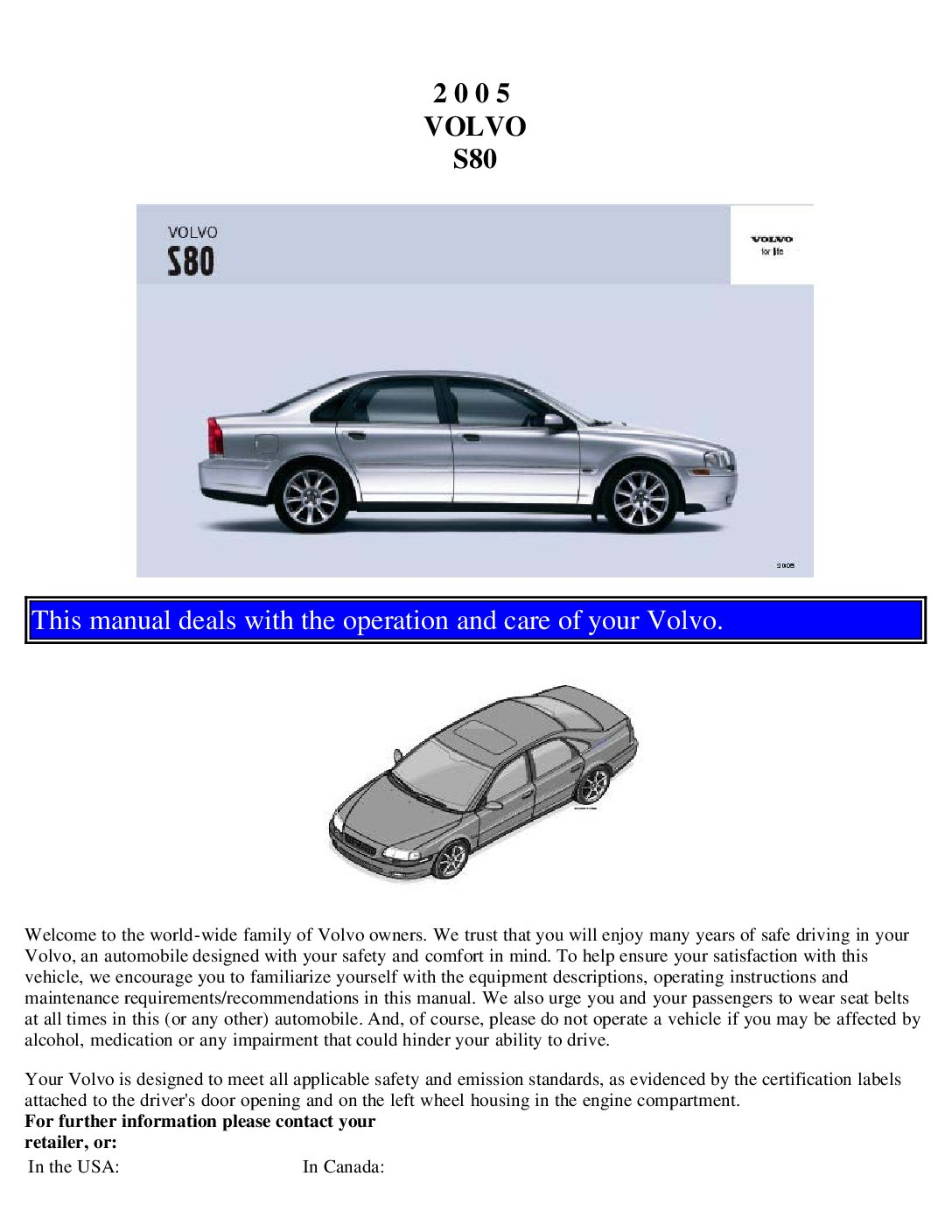 2005 volvo s80 owners manual just give me the damn manual rh  justgivemethedamnmanual com 2000 Volvo S80 Problems volvo s80 2000 manual  pdf