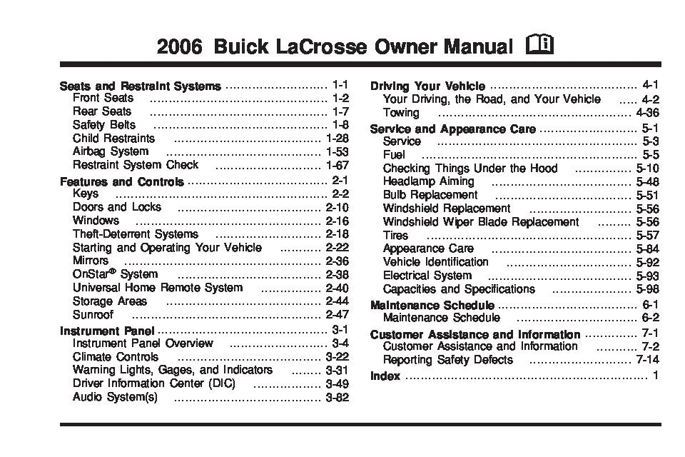 buick lacrosse owners manual  give   damn
