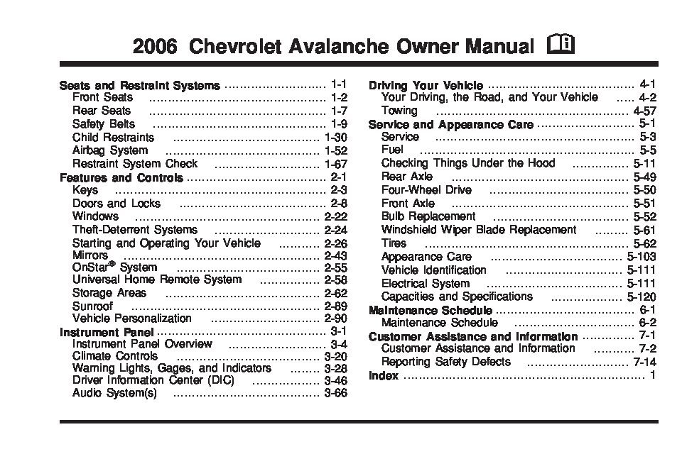 Pdf-6760] chevy avalanche service manual 2015 | 2019 ebook library.