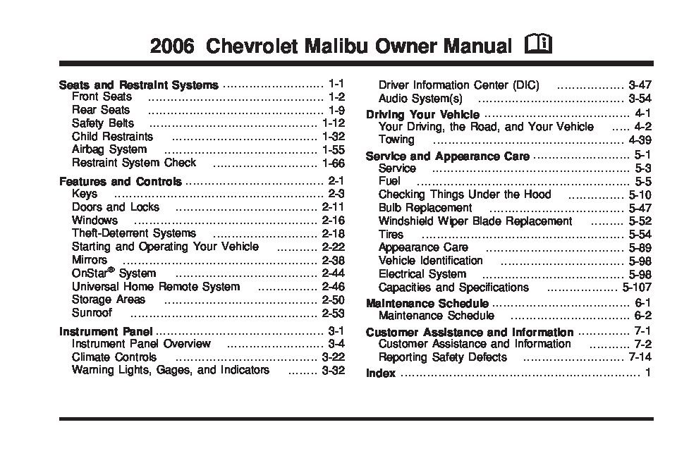 2006 chevrolet malibu owners manual just give me the damn manual rh justgivemethedamnmanual com 2006 malibu maxx manual chevy malibu maxx manual