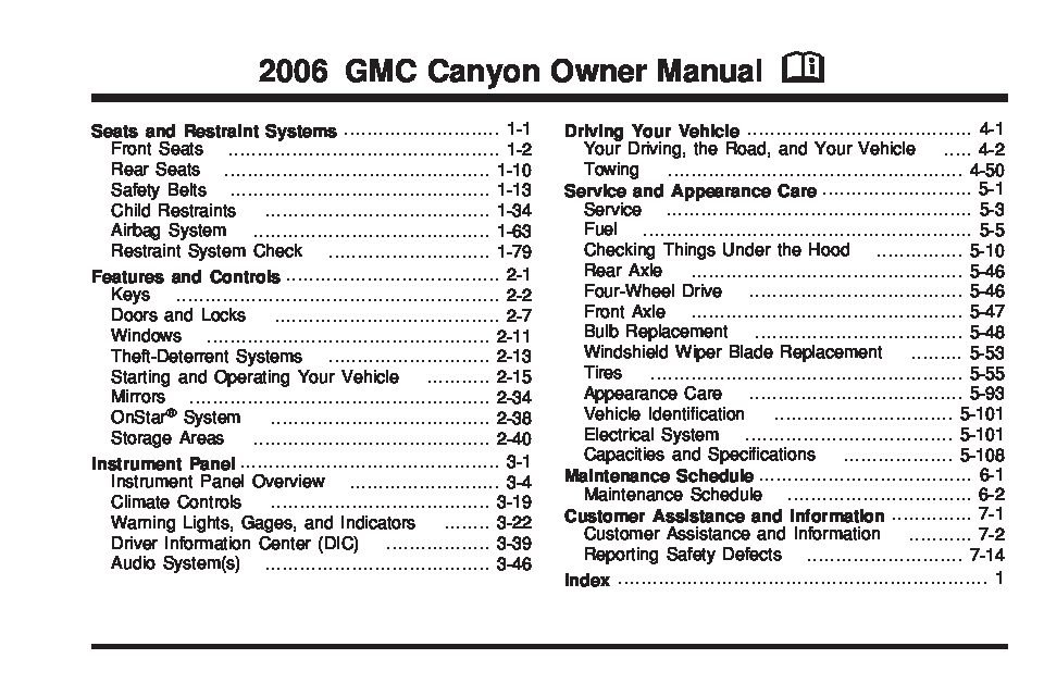 2006 gmc canyon owners manual just give me the damn manual rh justgivemethedamnmanual com 2006 gmc canyon owner's manual 2006 canyon owners manual