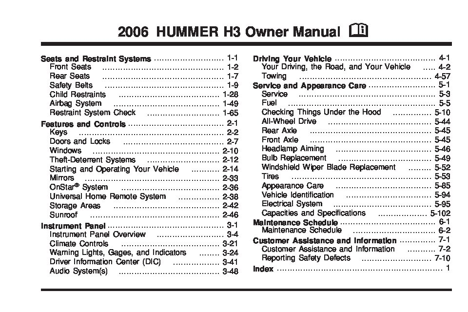 2006 hummer h3 owners manual just give me the damn manual rh justgivemethedamnmanual com 07 mustang owners manual 05 Mustang