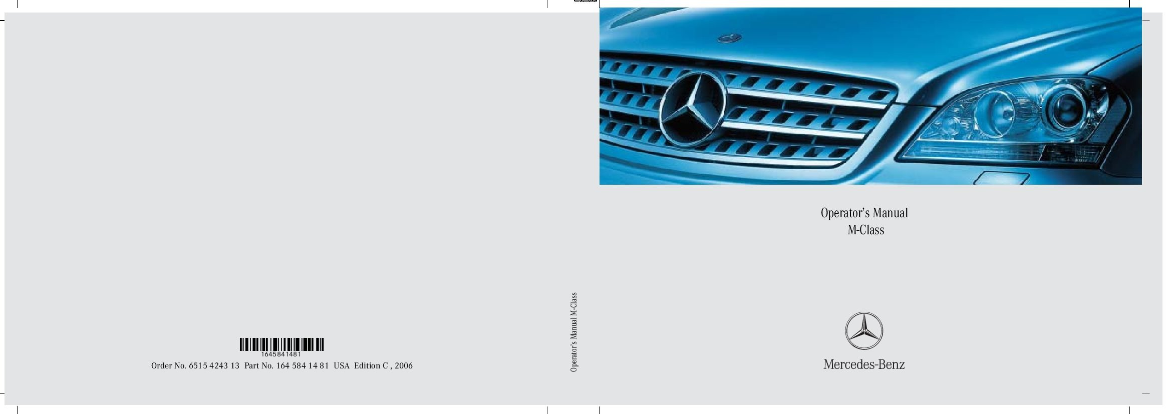 2006 mercedes benz m class owners manual just give me the damn manual rh justgivemethedamnmanual com mercedes benz usa owner's manual Mercedes Manual 2018