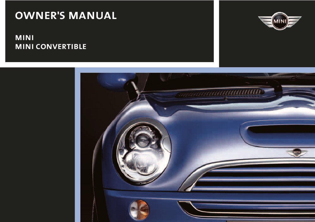 2006 mini cooper owners manual just give me the damn manual rh justgivemethedamnmanual com User Manual PDF Operators Manual