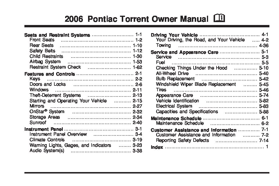 2006 Pontiac Torrent Owners Manual Just Give Me The Damn