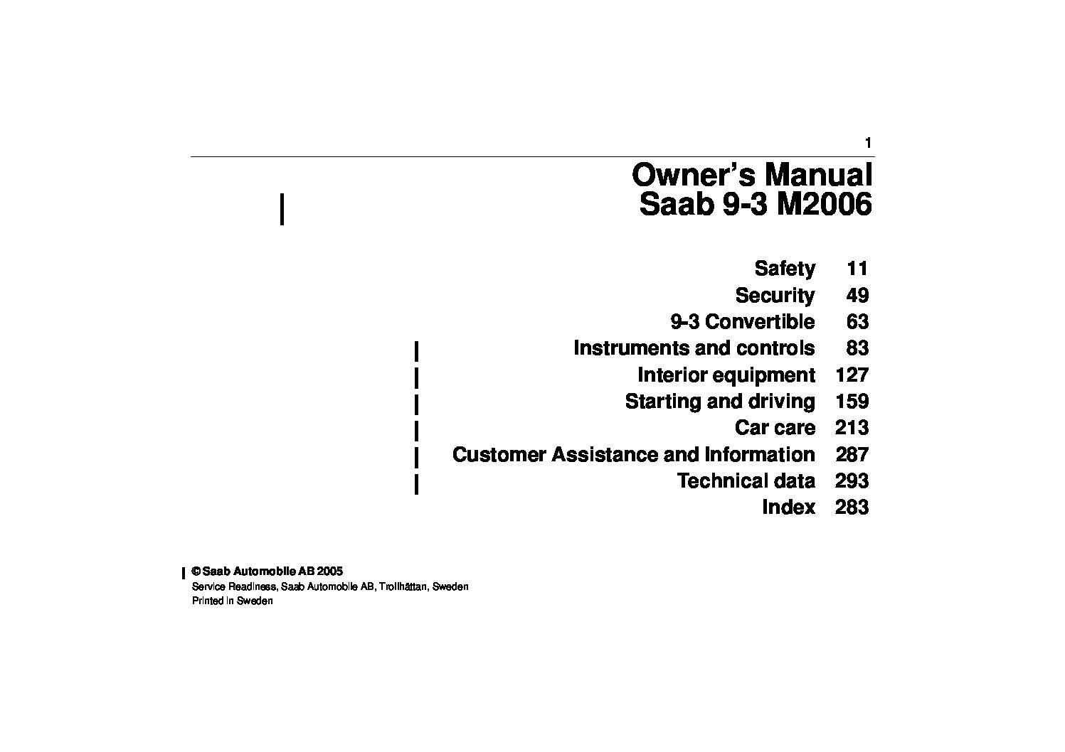 2006 saab 9 3 owners manual just give me the damn manual rh justgivemethedamnmanual com 2006 saab 9-3 owner's manual 2006 saab 9-3 repair manual pdf