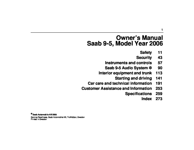 2006 saab 9 7x repair maintenance manual basic instruction manual u2022 rh ryanshtuff co 2006 Saab 9-7X Engine 2006 Saab 9- 5