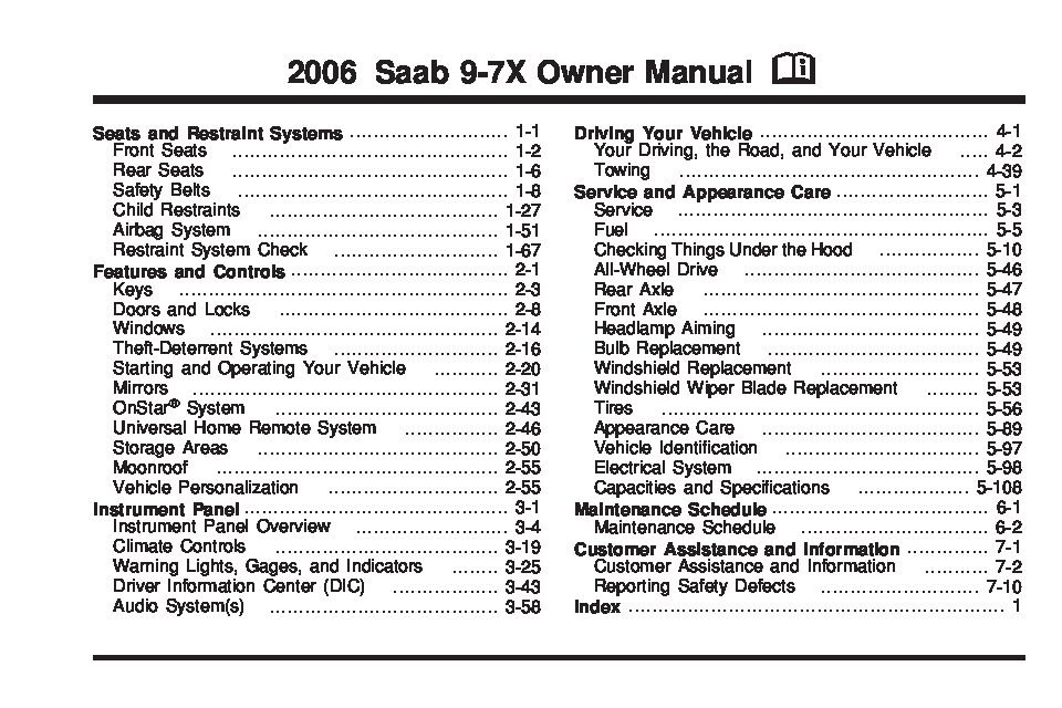 2006_saab_9 7x 2006 saab 9 7x owners manual just give me the damn manual 2006 saab 9-7x fuse box at n-0.co