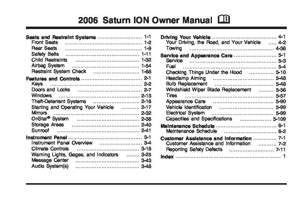 2006 saturn ion owners manual just give me the damn manual rh justgivemethedamnmanual com 06 saturn ion owner's manual Saturn Ion Axle