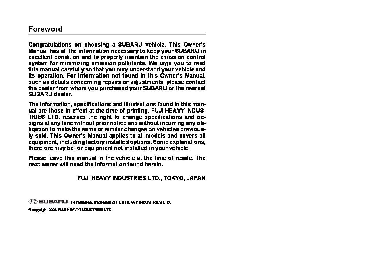 2006 subaru impreza wrx owners manual just give me the damn manual rh justgivemethedamnmanual com 2006 subaru tribeca owner's manual 2006 subaru outback owner's manual pdf