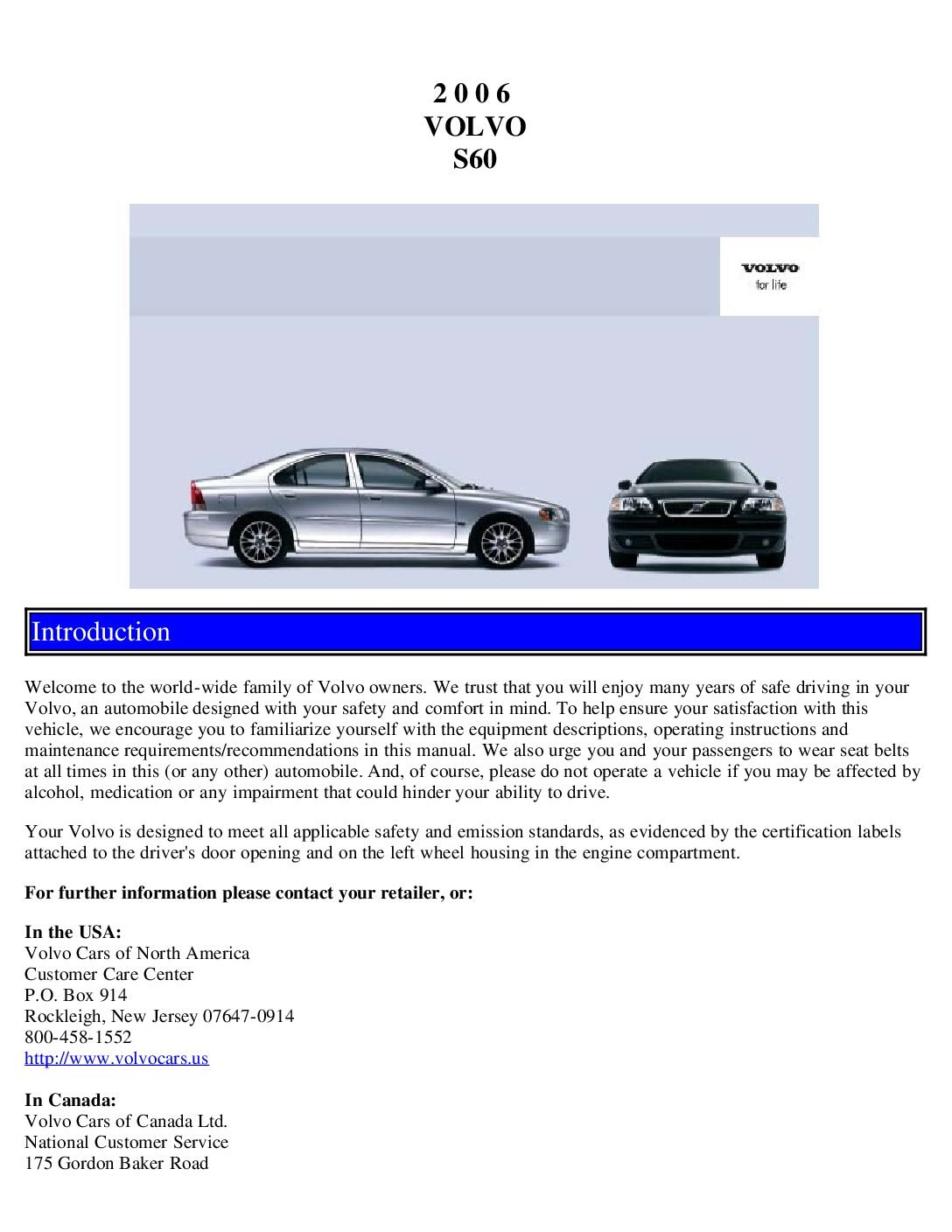 2006 volvo s60 owners manual just give me the damn manual rh justgivemethedamnmanual com Volvo Manual Jpg Volvo Manual Trans