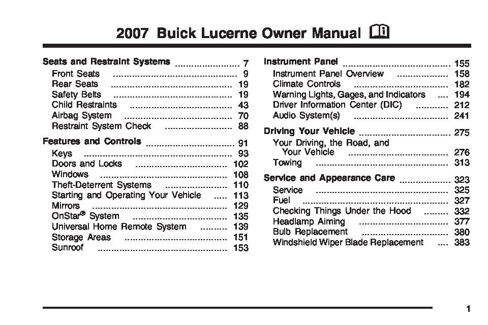 2007 buick lucerne owners manual just give me the damn manual rh justgivemethedamnmanual com 2007 buick rainier owner's manual buick lacrosse 2007 owners manual