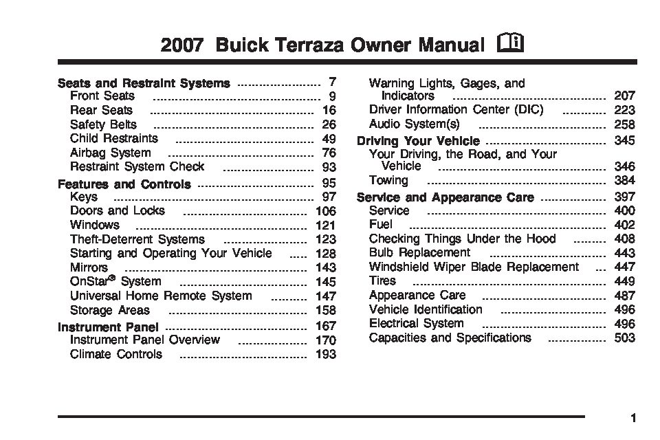 owners manual 2007 buick daily instruction manual guides u2022 rh testingwordpress co 2001 buick lesabre manual hvac control head 2001 buick lesabre manual owners