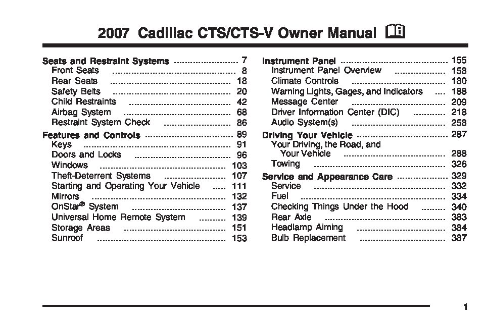 2007 cadillac cts owners manual just give me the damn manual rh justgivemethedamnmanual com 2012 cts v owners manual 2012 cts v owners manual