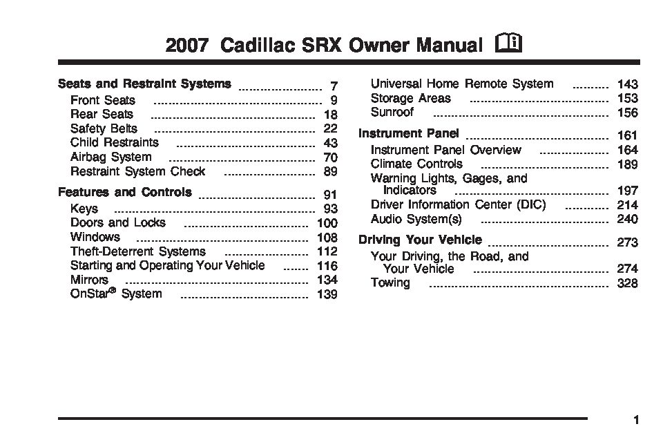 2007 cadillac srx owners manual just give me the damn manual rh justgivemethedamnmanual com 2006 cadillac escalade owners manual 2006 cadillac srx repair manual